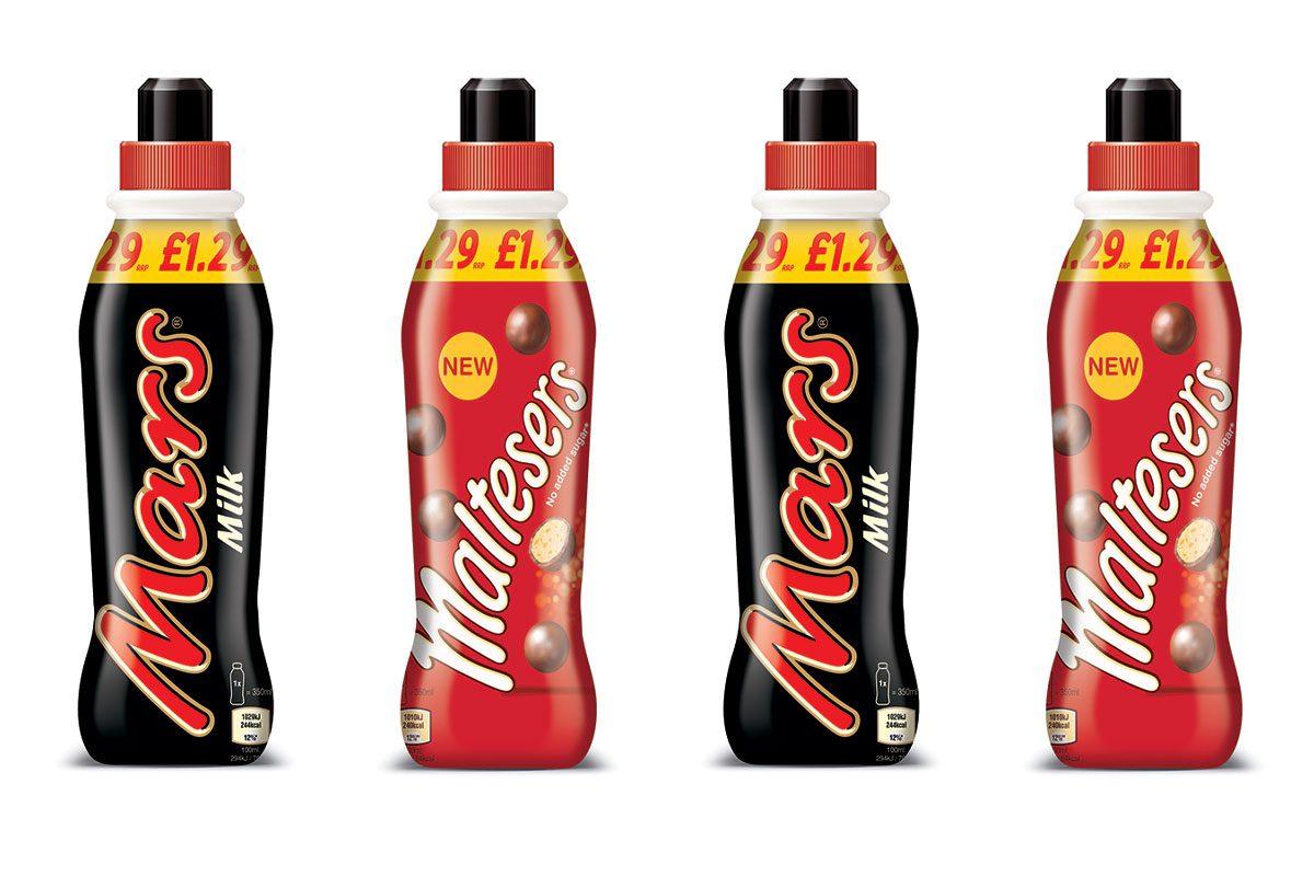 Mars and Malteser 350ml PMP drinks