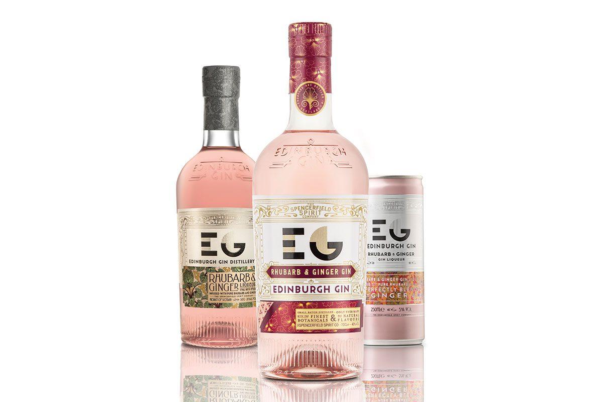 Edinburgh Gin rhubarb and ginger range