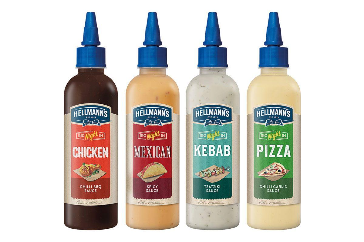 Hellmanns sauce new flavours range