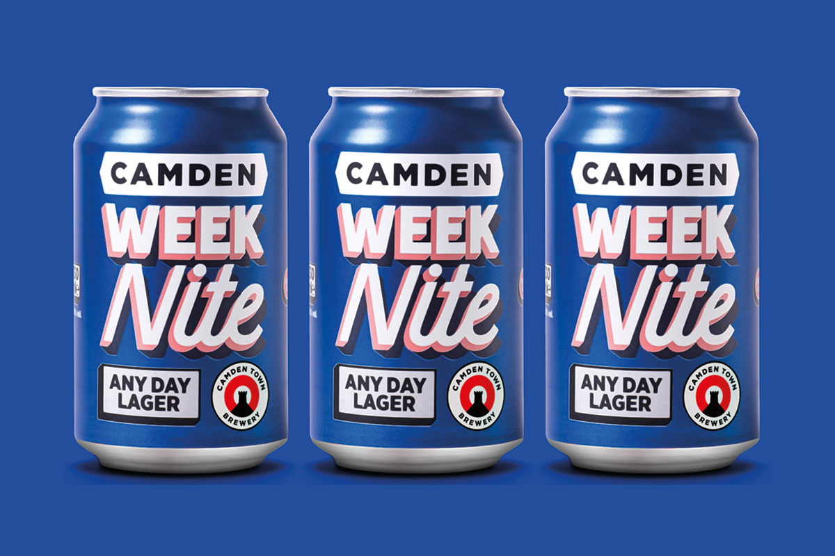 Camden week nite any day lager low ABV
