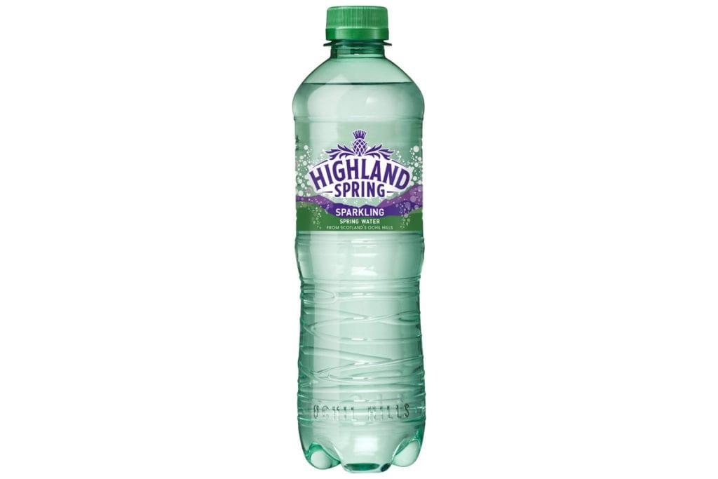 Highland Spring Sparkling new packaging design