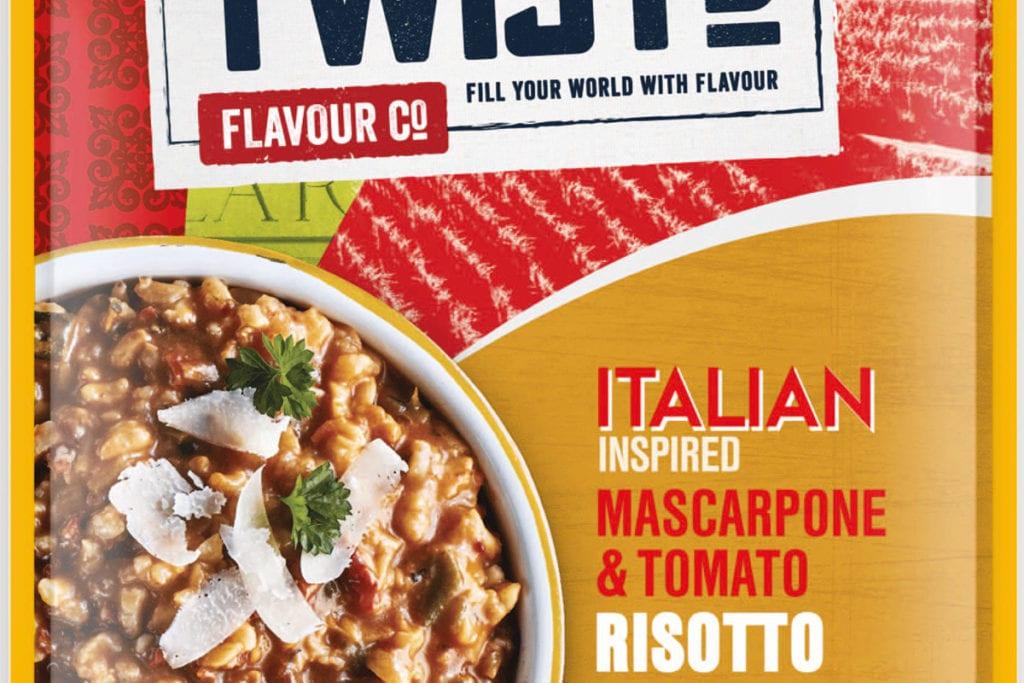 Twistd Italian inspired mascarponi and tomato risotto