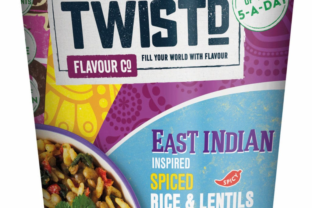 Twistd snack pot East Indian inspired spiced rice and lentils