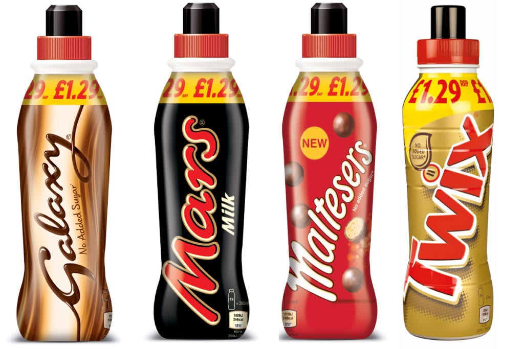 Mars flavoured milk