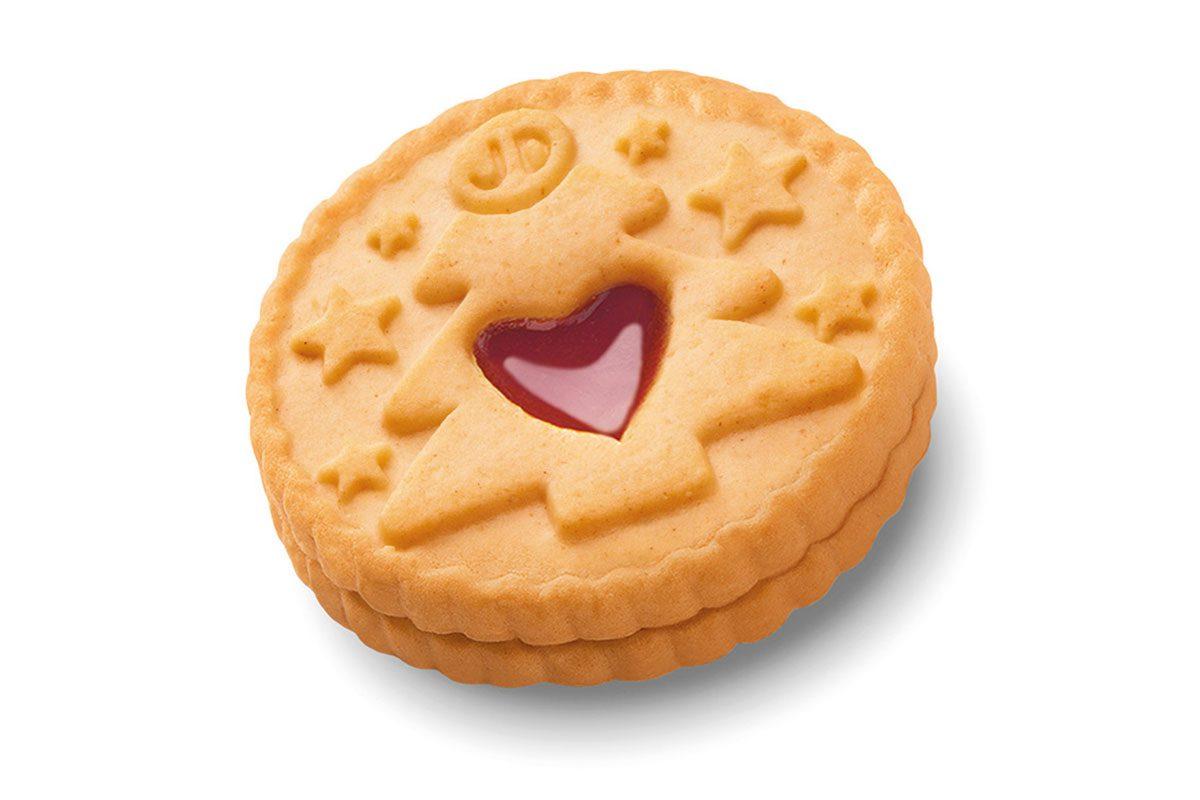 Jammie Dodger Christmas biscuit