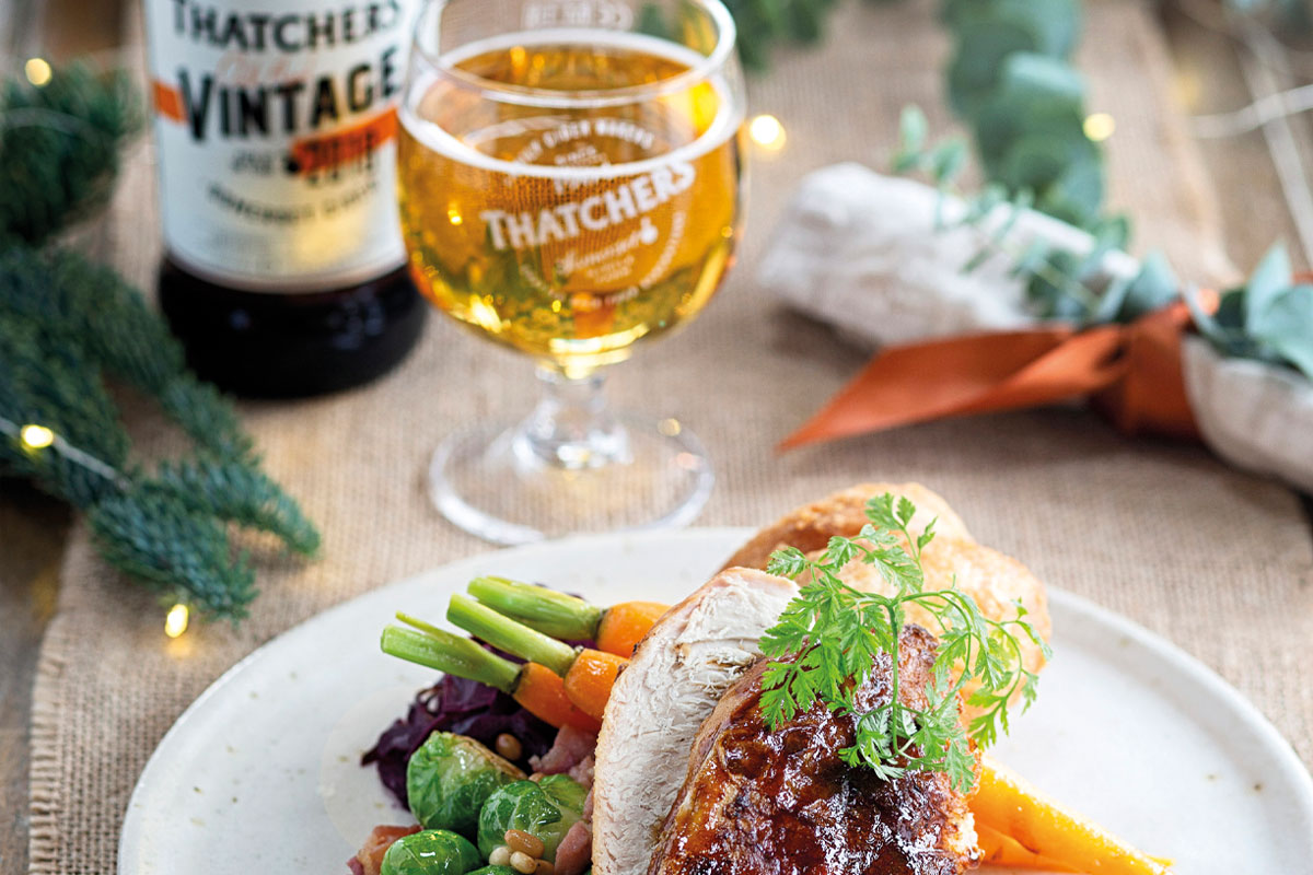 Thatchers with turkey roast