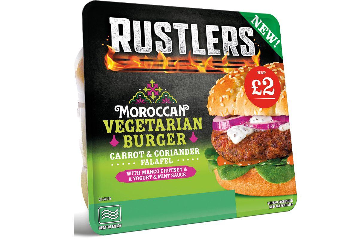 Rustlers vegetarian burger