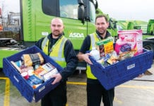 Asda Drivers Infront of Lorry