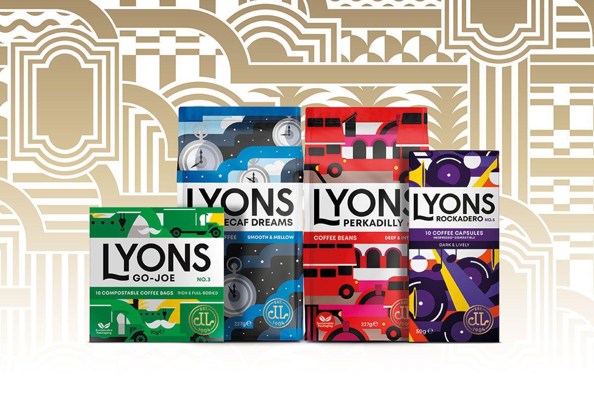 Lyon's Coffee packs