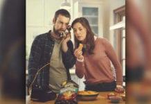 Couple eating Doritos