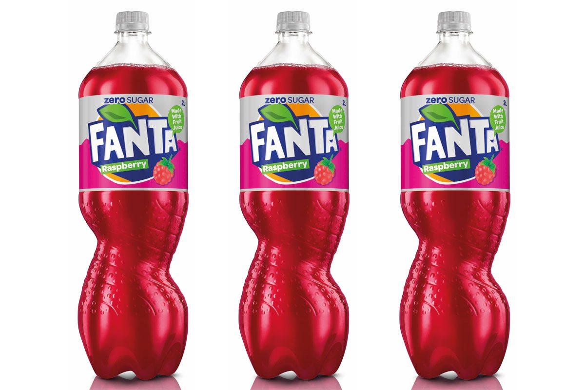 3 Bottles of Fanta rasberry
