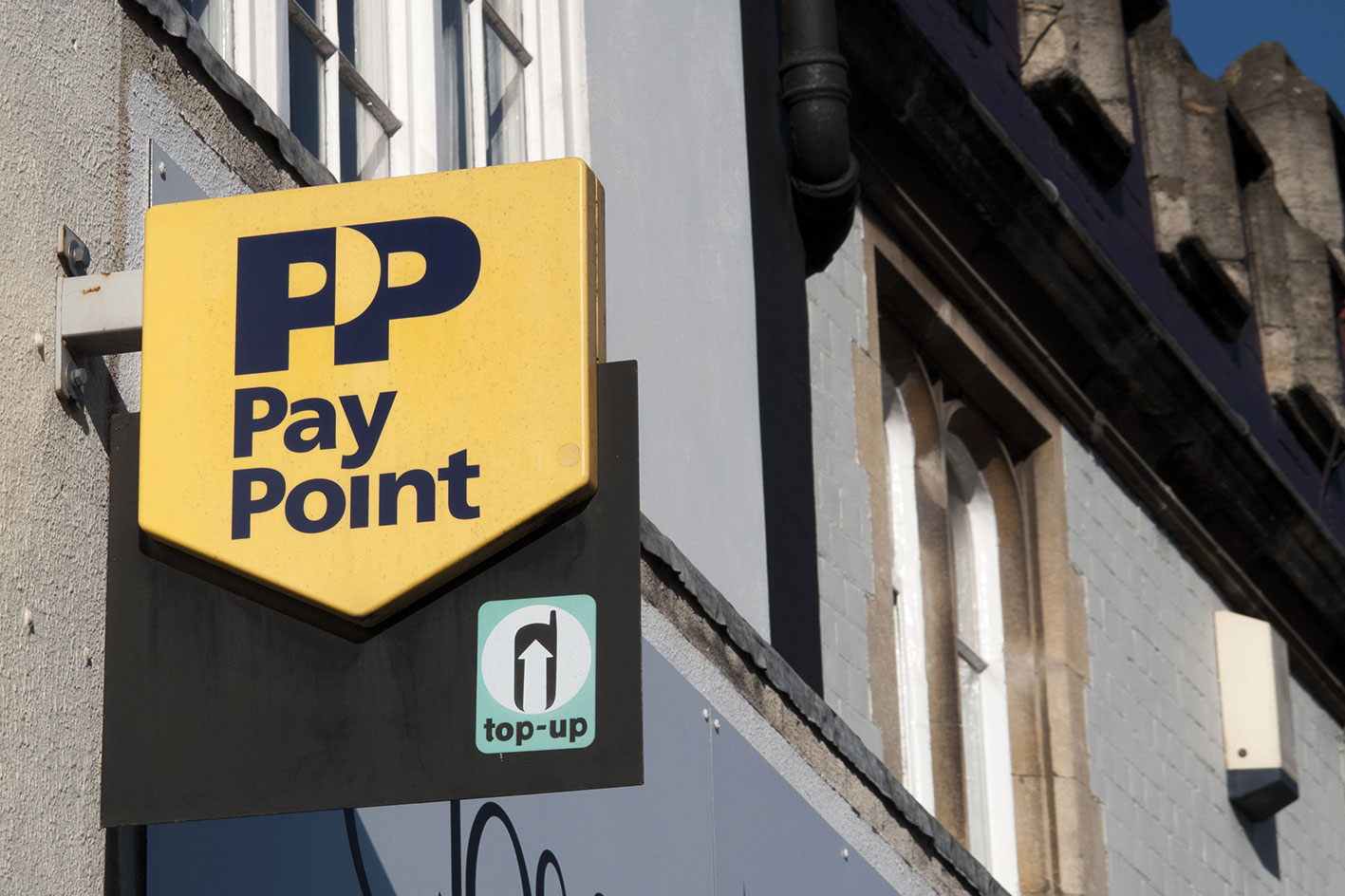 paypoint sign on building