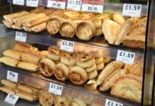 Shelf of pastries