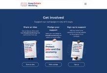 Keep Britain Working website