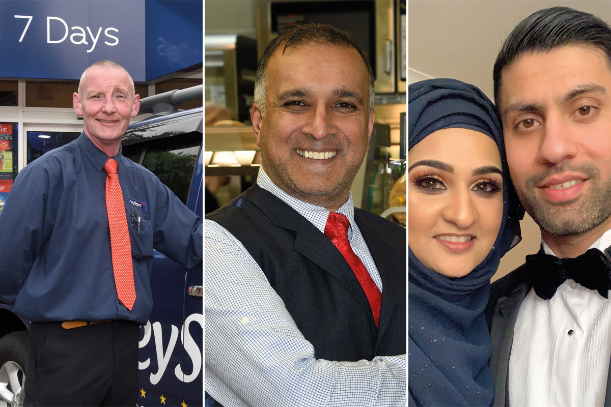 Left to right: Keystore More retailer Wilson Rea; Mo Razzaq of Family Shopper Blantyre; retailers Asiyah and Javed Jawad.