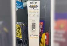 Nisa hand sanitiser station