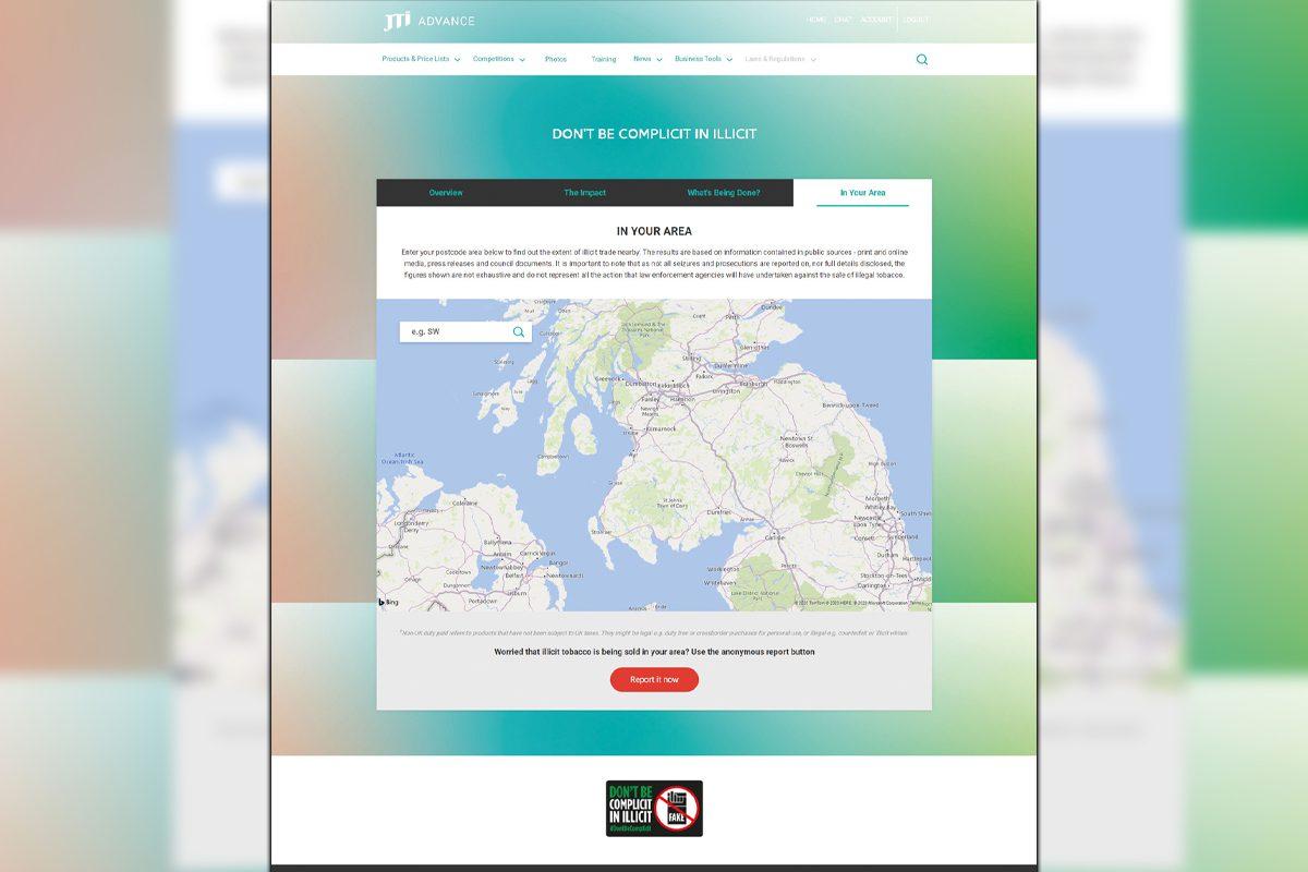 JTI Illicit trade postcode tracker