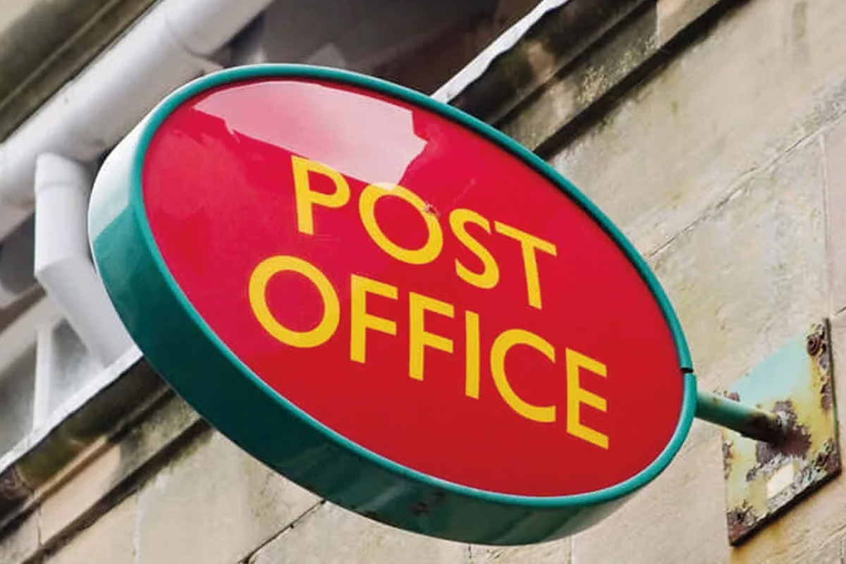 The Post Office sign