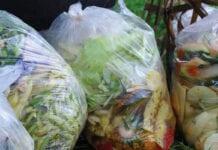 food waste in bags