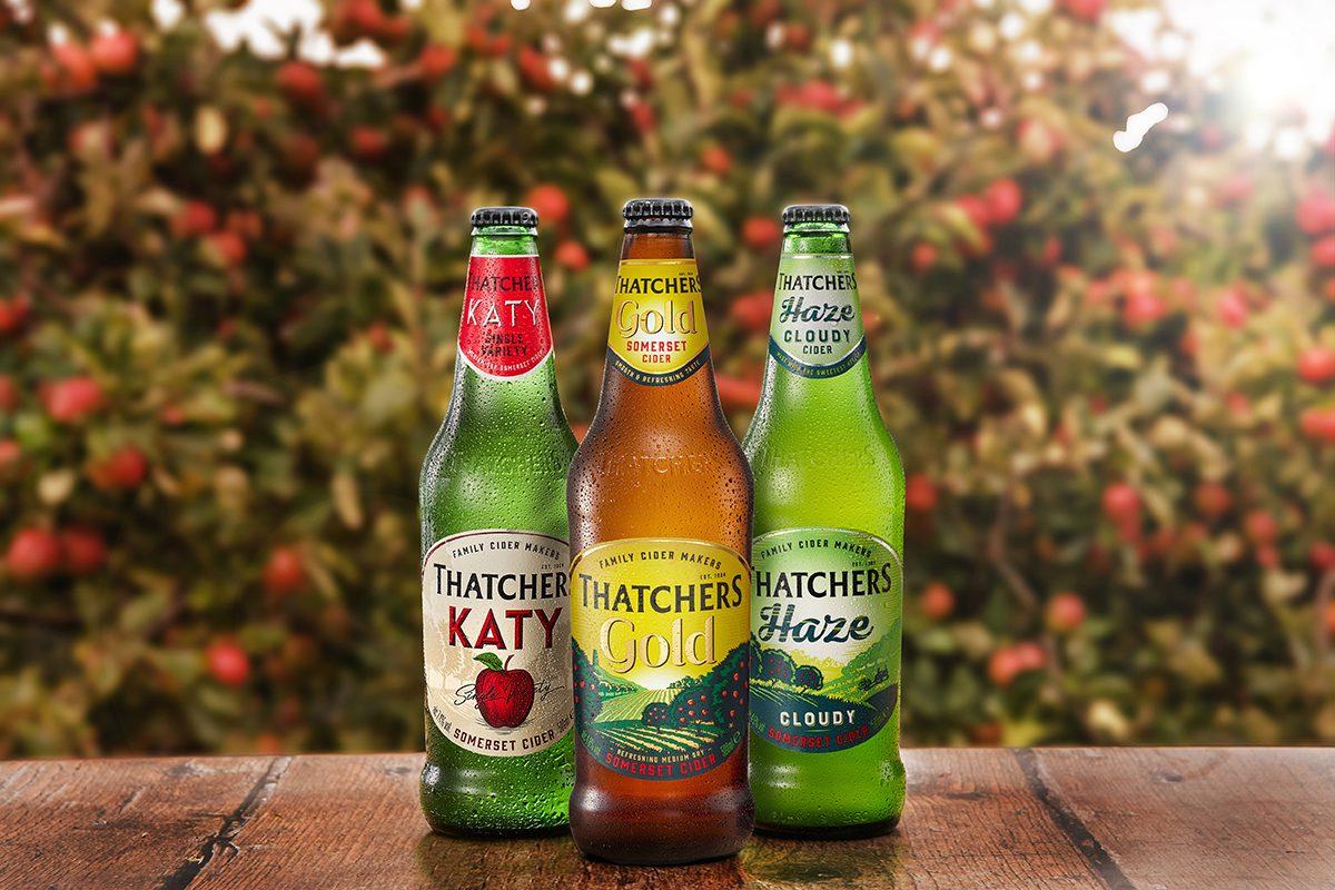 Thatchers cider bottles