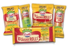 Walls sausage roll display