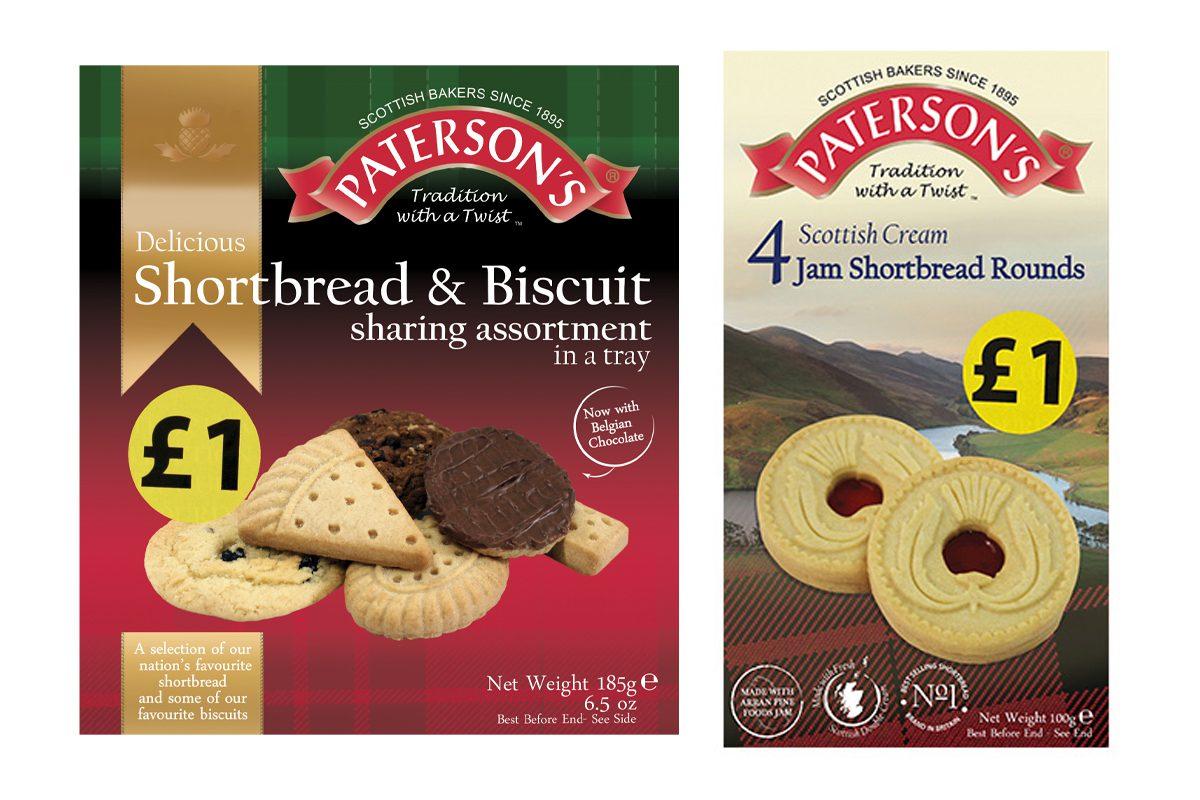 Paterson's shortbread packages