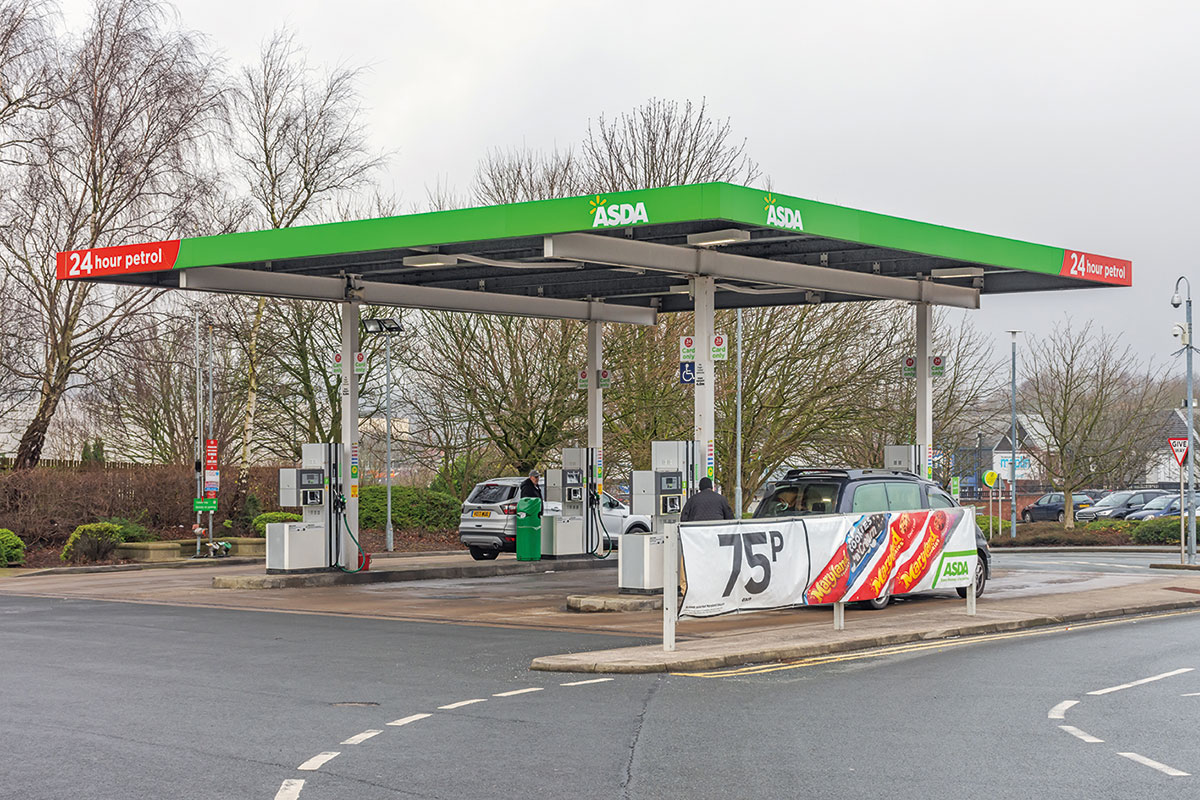 Asda petrol filling station