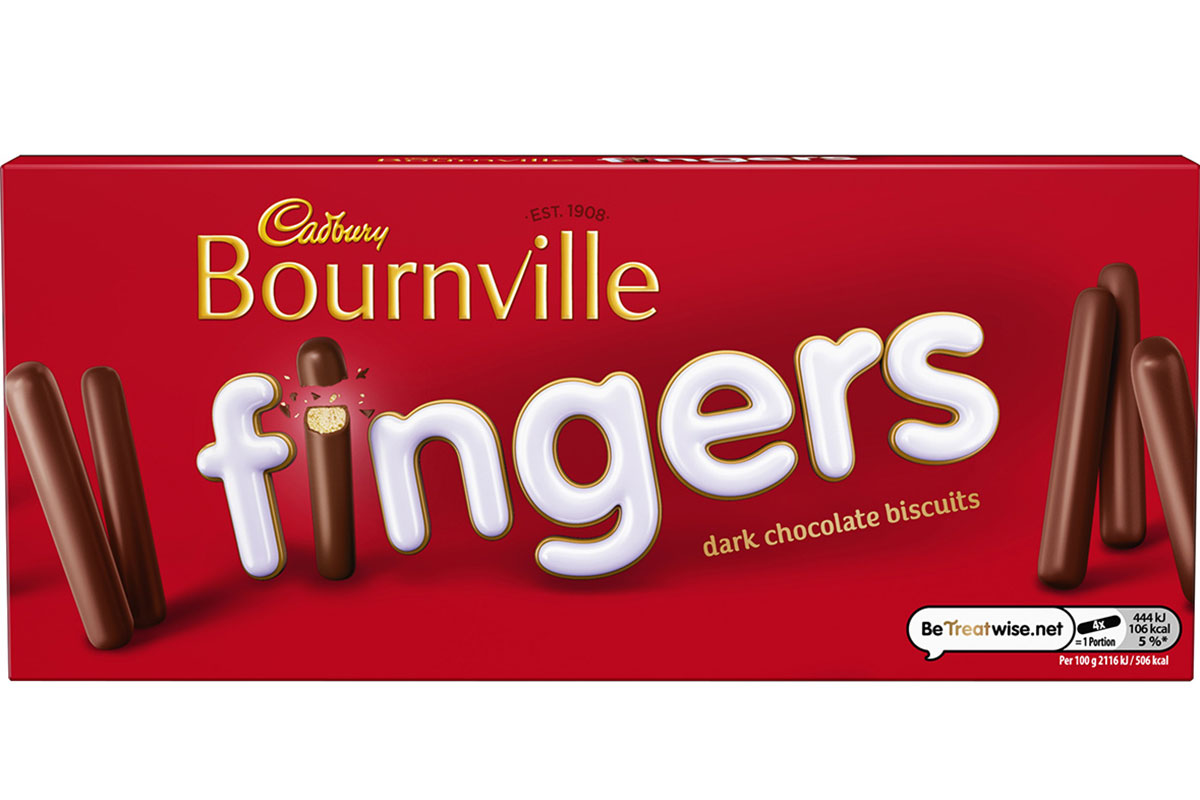Dark chocolate brand Cadbury Bournville has joined the Cadbury Fingers range.