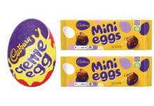 Creme eggs and mini eggs packs