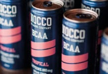 Nocca cans on shelf