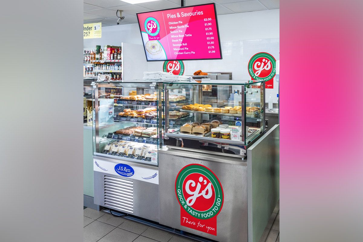 Food-to-go section in Spar