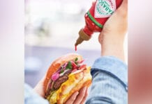 Tabasco with a burger