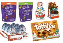 Range of christmas seasonal confectionery