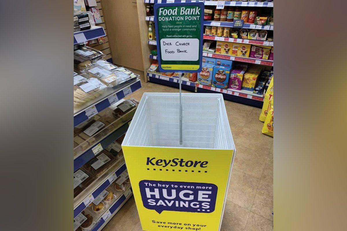 keystore food bank donation bin