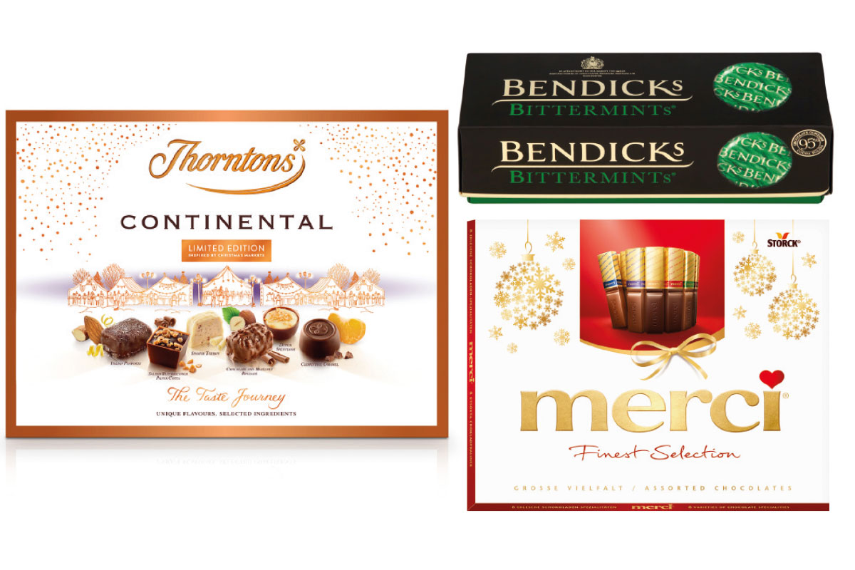 Large format Christmas confectionery packs