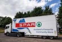 SPAR lorry