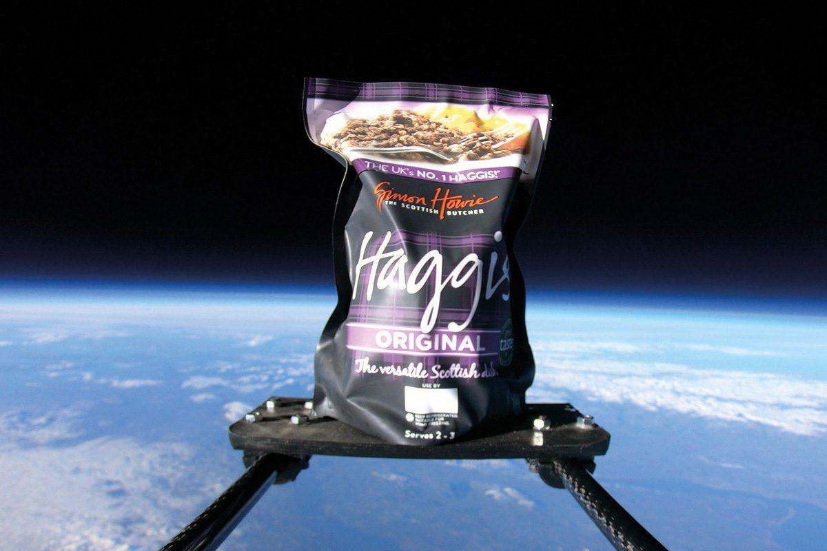 Simon Howie haggis in space