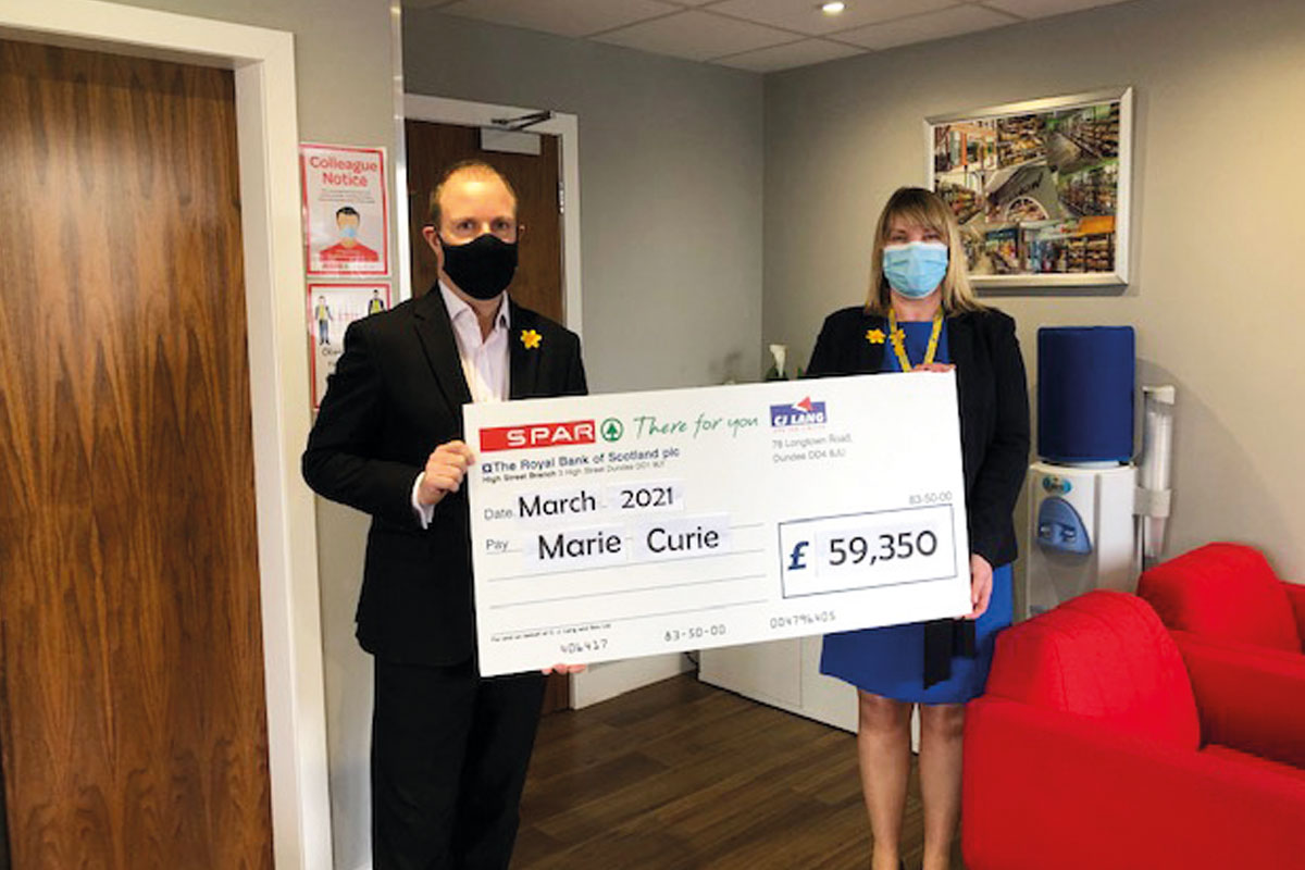 Spar donation to Marie Curie