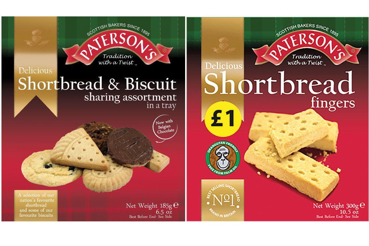 Paterson's versatile shortbread range