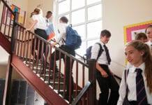Schoolchildren in school
