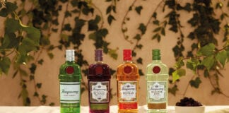 Tanqueray bottles
