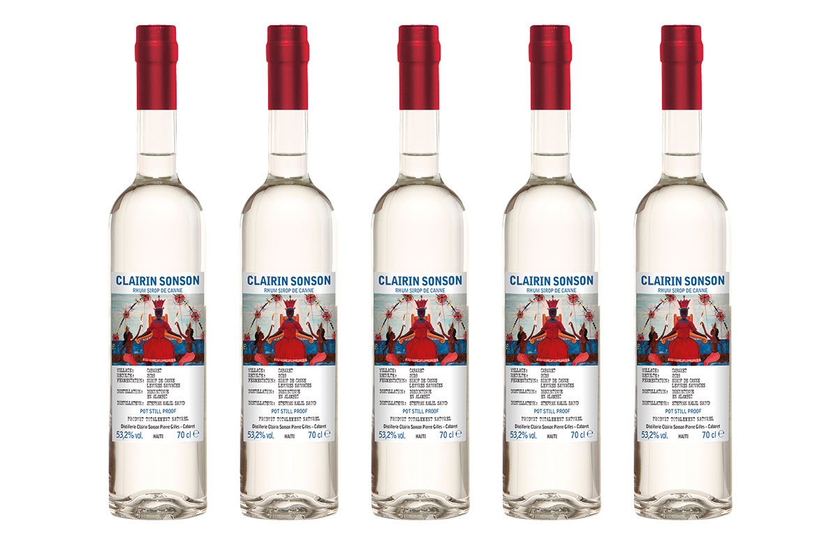 Bottles of Clairin Sonson