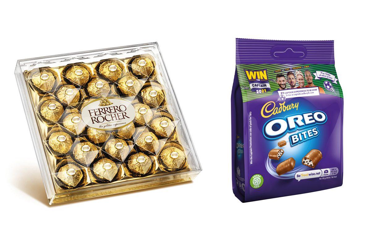 Ferrero and Cadbury chocolates