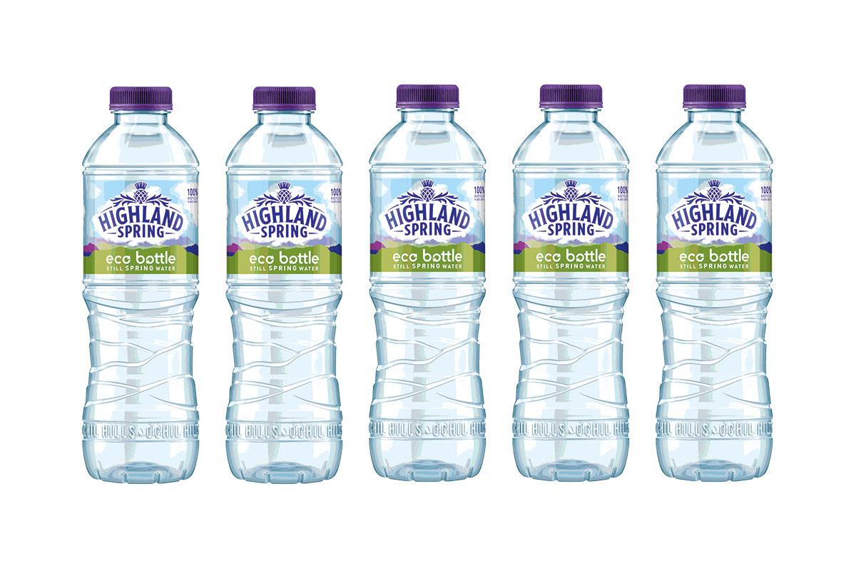 Highland Spring bottles