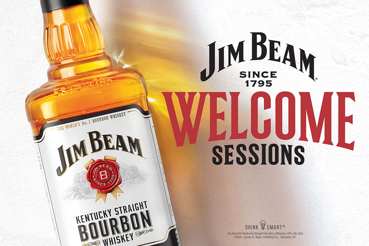 Jim Bean Welcome Sessions promotion