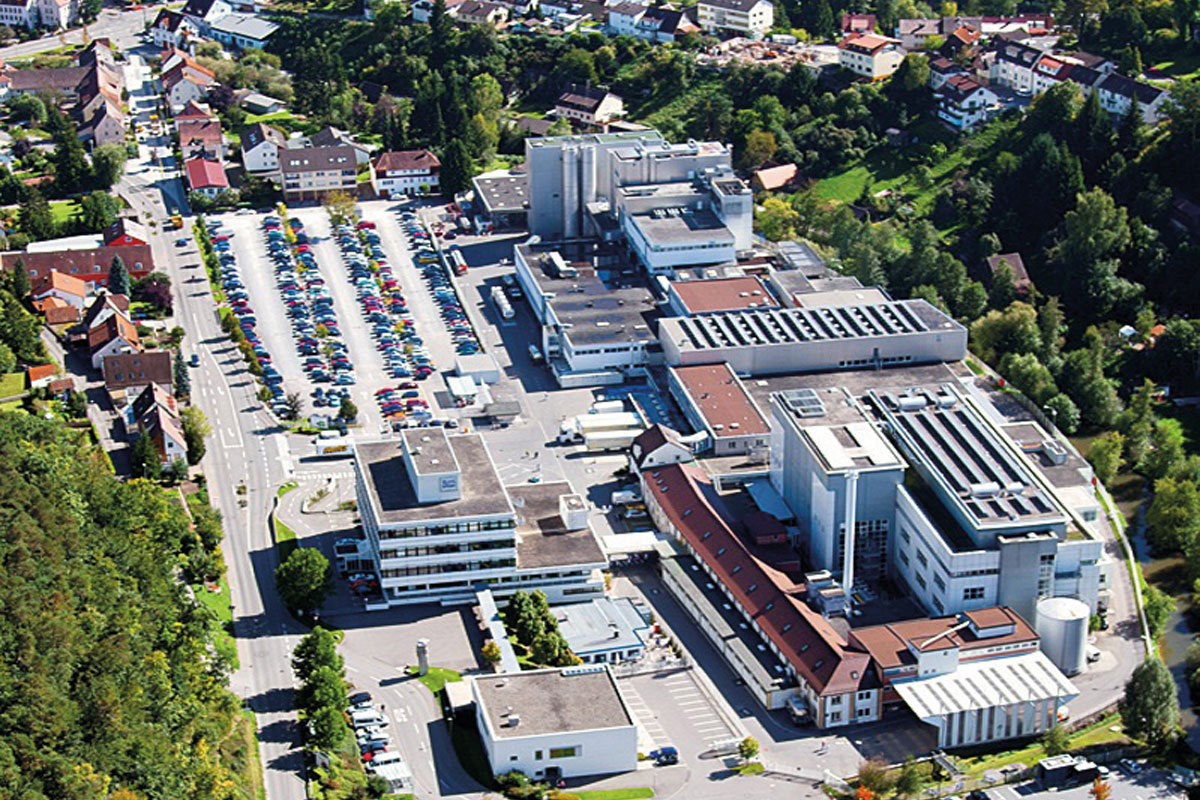 Ritter Sport's production facility in Waldenbuch, Germany
