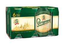 The new Staropramen six-pack multipack is made from recyclable cardboard.