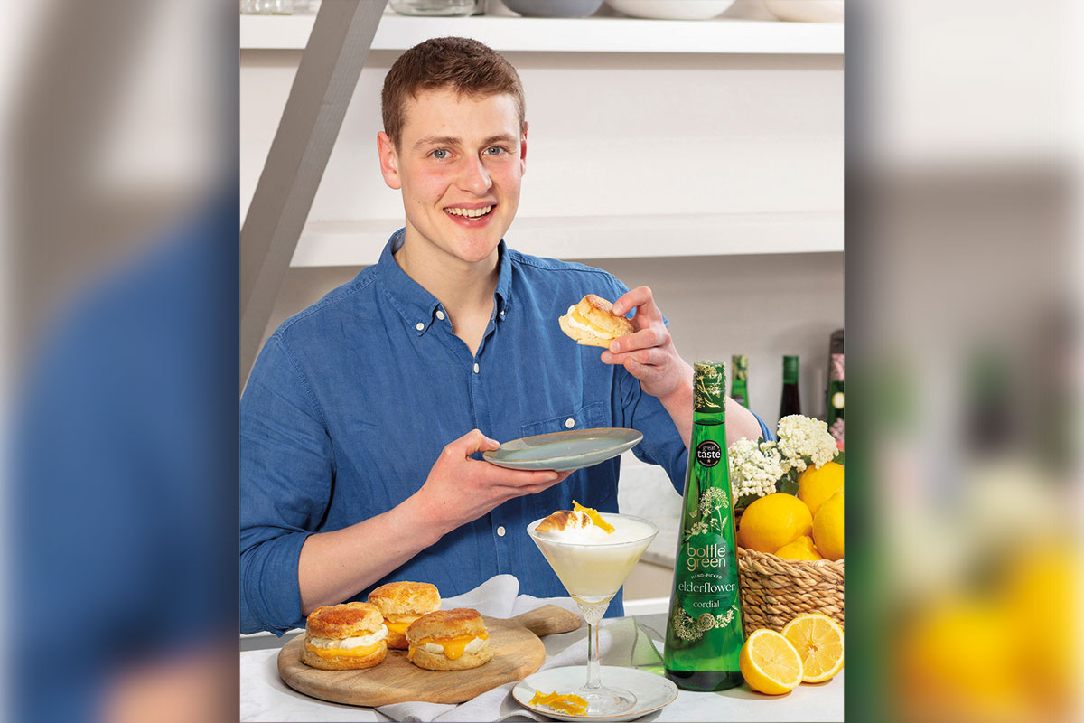 Bake Off winner Peter Sawkins uses Bottlegreen cordials in his baking and dessert recipes.