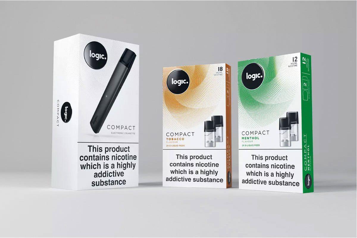 Logic compact e-cigarette