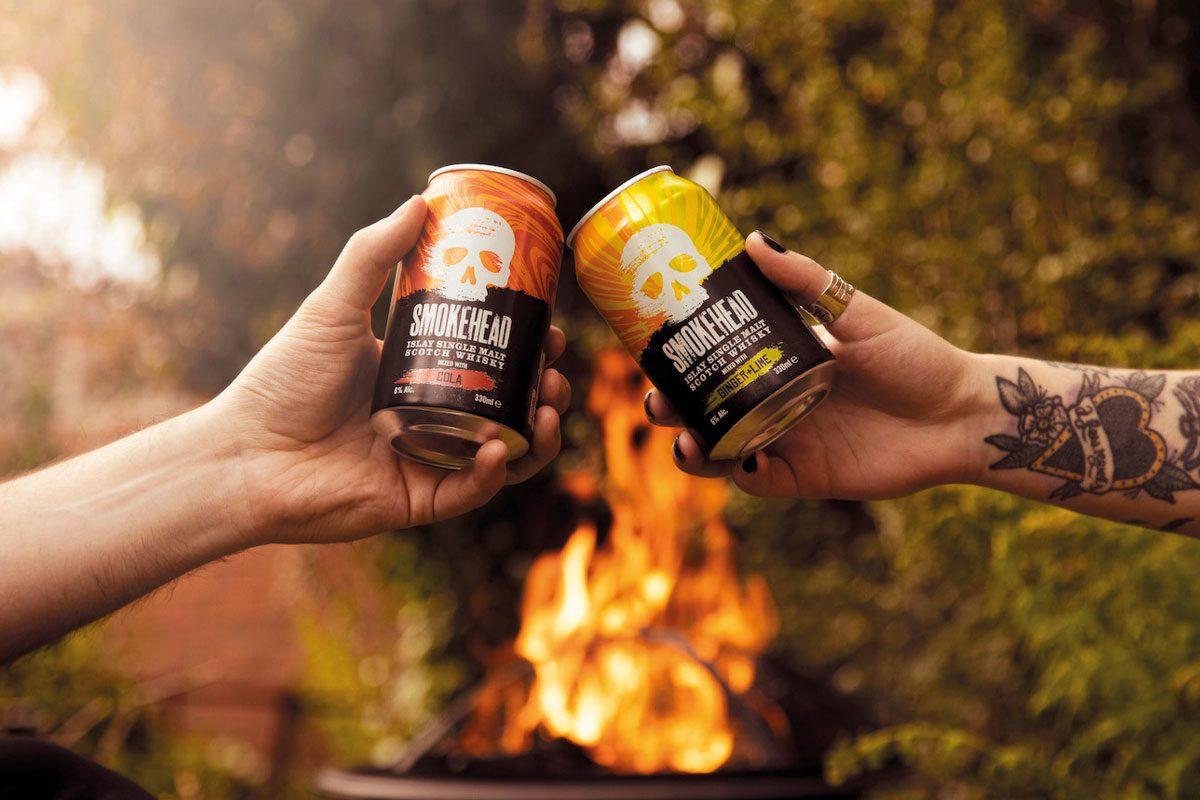 Smokehead cans